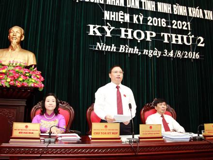 Chủ tọa kỳ họp thứ 2, HĐND tỉnh khóa XIV. Ảnh: Thế Minh