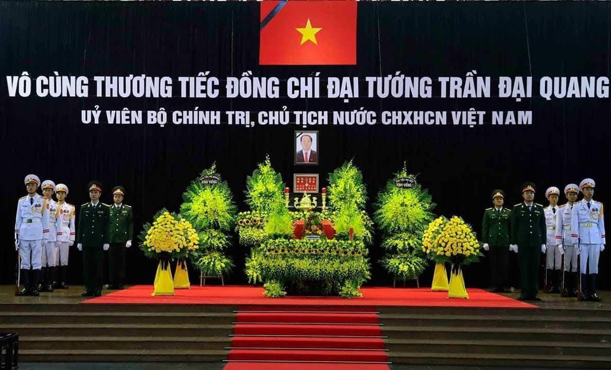 Vô cùng thương tiếc đồng chí Đại tướng Trần Đại Quang, Ủy viên Bộ Chính trị, Chủ tịch nước Cộng hòa xã hội chủ nghĩa Việt Nam. Ảnh VGP/Nhật Bắc