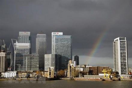 Quang cảnh trung tâm tài chính tại thủ đô London, Anh, ngày 19/11/2018.