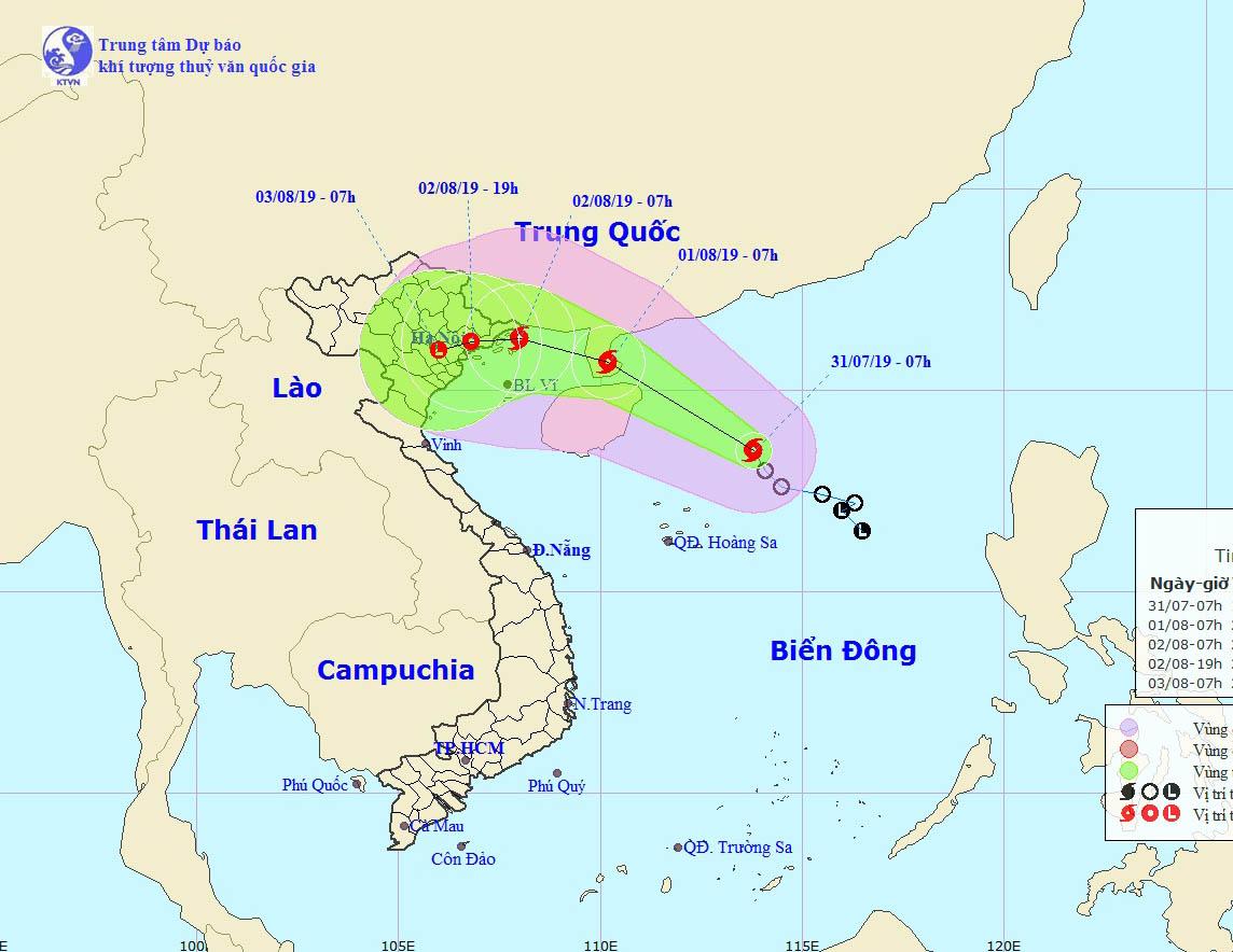 Dự báo mới nhất cho thấy, áp thấp nhiệt đới đã mạnh lên thành bão số 3 và sẽ ảnh hưởng đến các tỉnh Bắc Bộ nước ta.