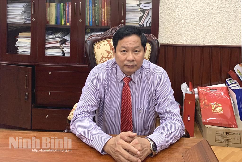 Đồng chí Vũ Mạnh Dương, Giám đốc Sở Y tế, Phó Trưởng Ban Chỉ đạo phòng chống dịch COVID-19 tỉnh Ninh Bình.